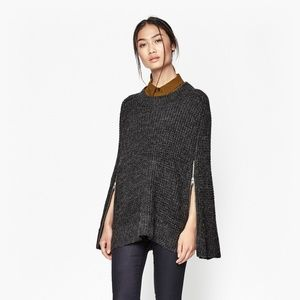 French Connection Jackets & Coats - French Connection 'Cara' knit gray cape